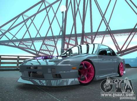Nissan 240SX Team Top Flight for GTA San Andreas back left view