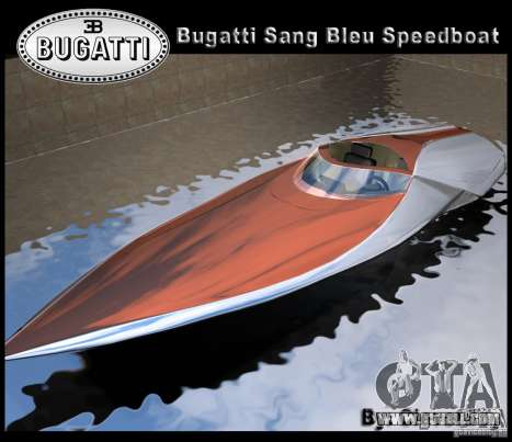 Bugatti Sang Bleu Speedboat for GTA Vice City