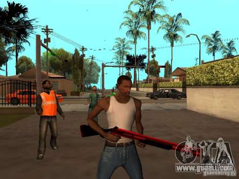 Red Chrome Weapon Pack for GTA San Andreas sixth screenshot