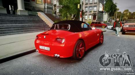 BMW Z4 Roadster 2007 i3.0 Final for GTA 4 upper view