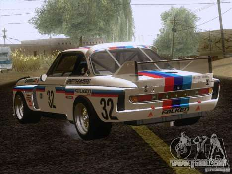 BMW CSL GR4 for GTA San Andreas back left view