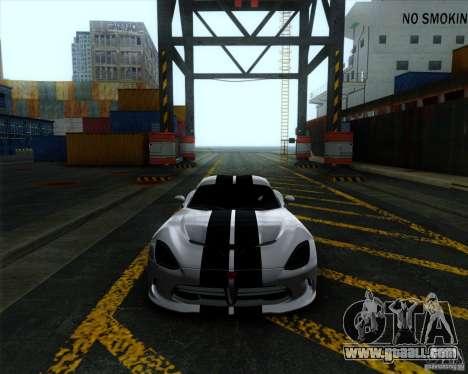 Dodge Viper SRT 2013 for GTA San Andreas left view