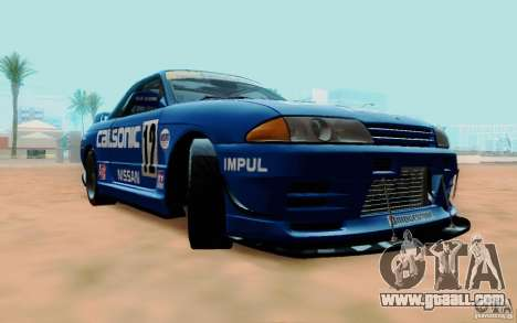 Nissan Skyline GT-R R32 1993 Tunable for GTA San Andreas upper view
