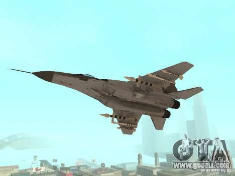 MIG-29 of the COD MW2 for GTA San Andreas right view