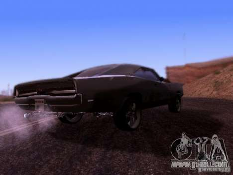 Dodge Charger 1970 Fast Five for GTA San Andreas right view