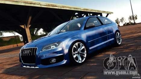 Audi S3 2010 v1.0 for GTA 4 back view