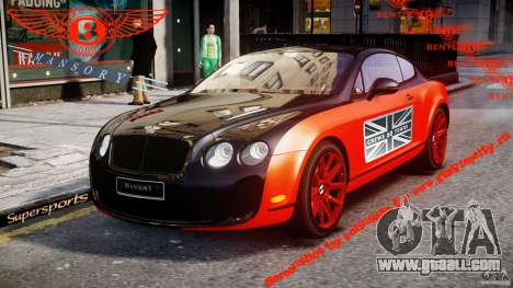 Bentley Continental SS 2010 Le Mansory [EPM] for GTA 4