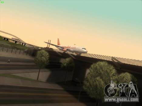 Airbus A320-214 EasyJet for GTA San Andreas back left view