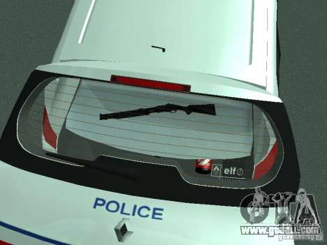 Renault Scenic II Police for GTA San Andreas upper view