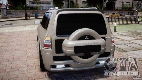 Mitsubishi Pajero Wagon for GTA 4 back left view