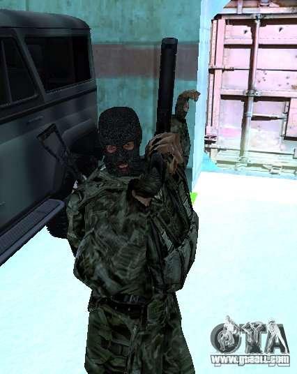 Stalker Shadow of Chernobyl SWAT OGSE for GTA San Andreas second screenshot