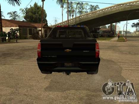 Chevrolet Avalanche Police for GTA San Andreas right view