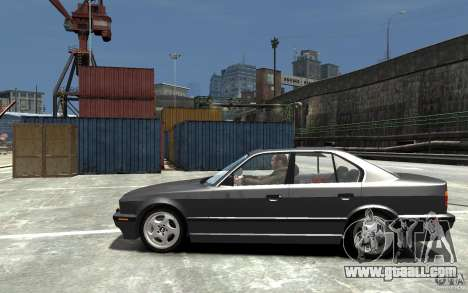 BMW 540i E34 v3.0 for GTA 4 left view