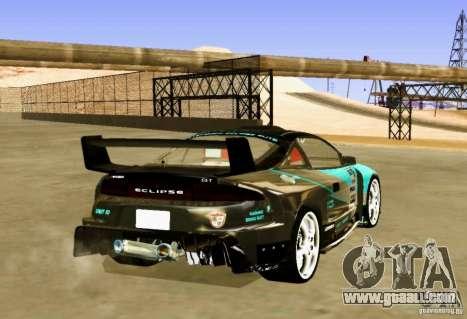 Mitsubishi Eclipse Elite for GTA San Andreas back left view