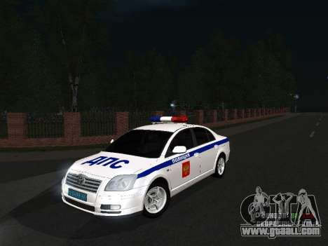 Toyota Avensis DPS for GTA San Andreas