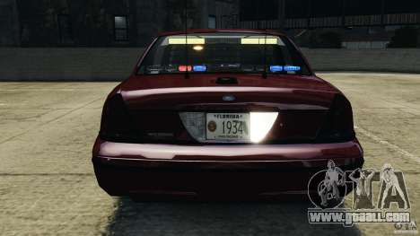 Ford Crown Victoria Police Unit [ELS] for GTA 4 wheels