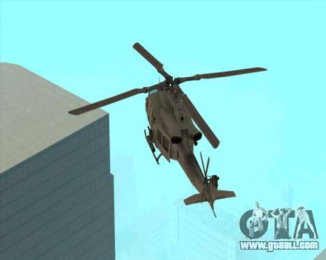 UH-1 Iroquois for GTA San Andreas back left view