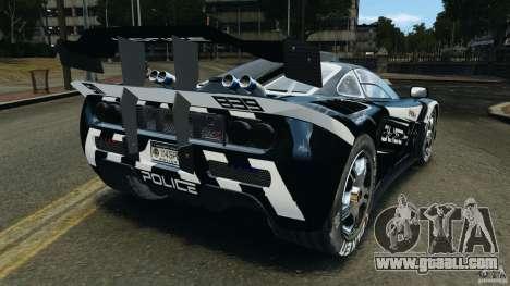 McLaren F1 ELITE Police [ELS] for GTA 4 back left view