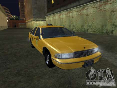 Chevrolet Caprice 1993 Taxi for GTA San Andreas