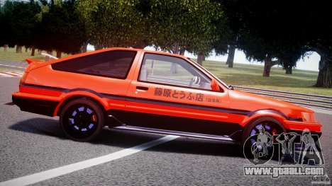 Toyota AE86 TRUENO Initial D for GTA 4 bottom view