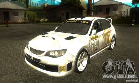 Subaru Impreza WRX STi DC Shoes of DIRT 2 for GTA San Andreas