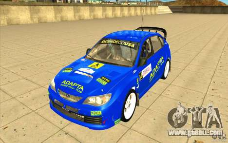 Subaru Impreza WRX STi with new vinyl unique for GTA San Andreas side view