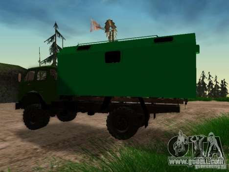An experienced 4 x 4 505 MAZ 1962 for GTA San Andreas right view
