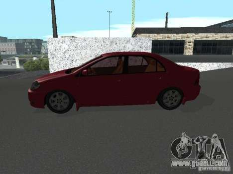 Toyota Corolla Sedan for GTA San Andreas left view