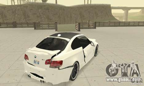 BMW M3 2008 Hamann v1.2 for GTA San Andreas bottom view