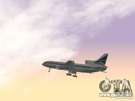 L1011 Tristar Delta Airlines for GTA San Andreas side view