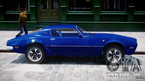 Pontiac Firebird Esprit 1971 for GTA 4 bottom view