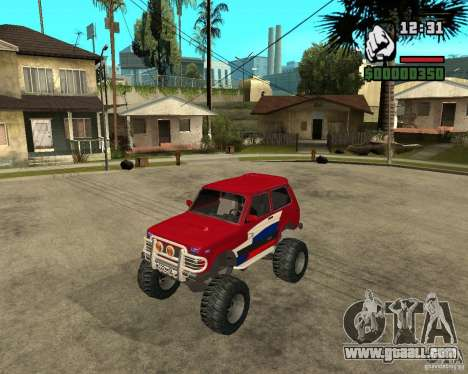 VAZ-21213 4x4 Monster for GTA San Andreas back left view