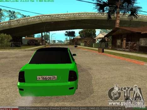 Lada Priora for GTA San Andreas back left view