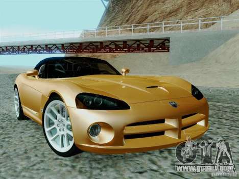 Dodge Viper SRT-10 Roadster for GTA San Andreas back view