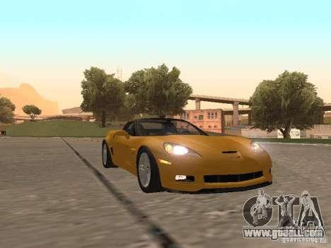 Chevrolet Corvette Z06 for GTA San Andreas left view