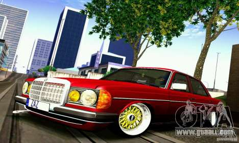 Mercedes Benz W123 for GTA San Andreas back left view