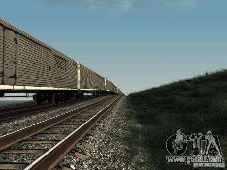 Insulated wagon HST for GTA San Andreas back left view