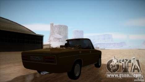 VAZ 2103 Convertible for GTA San Andreas inner view