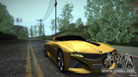 BMW Vision Connected Drive Concept for GTA San Andreas back view