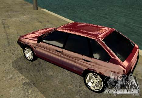 Vaz 2109 chrome for GTA San Andreas right view