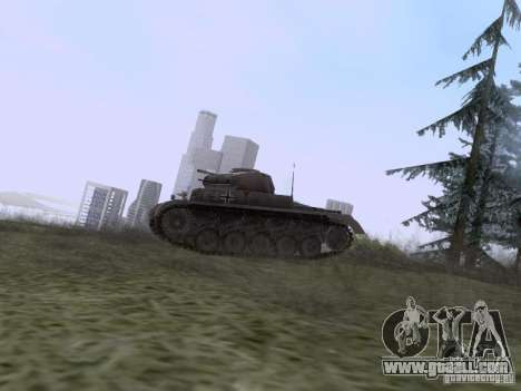 PzKpfw II Ausf.A for GTA San Andreas left view