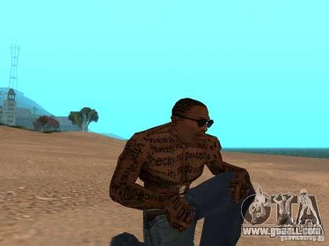 Tattoo Mod by shama123 for GTA San Andreas second screenshot