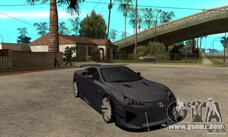 Lexus LFA 2010 v2 for GTA San Andreas back view