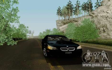 BMW M5 2009 for GTA San Andreas inner view