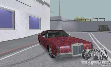 Lincoln Continental Mark IV 1972 for GTA San Andreas wheels