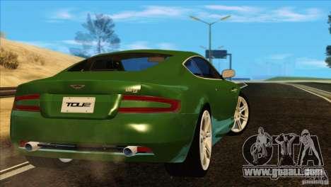 Aston Martin DB9 for GTA San Andreas bottom view