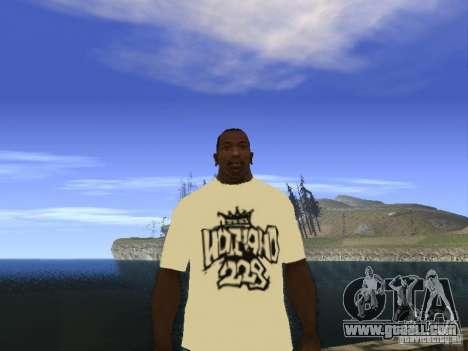 T-shirt NoGGano228 and AK 47 for GTA San Andreas
