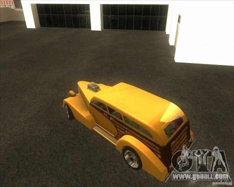 Custom Woody Hot Rod for GTA San Andreas side view