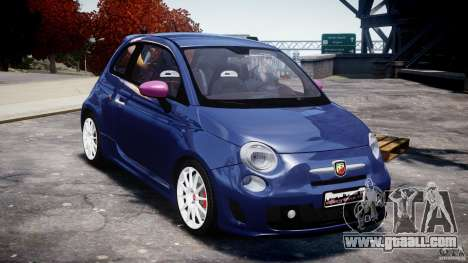 Fiat 500 Abarth SS for GTA 4 back view