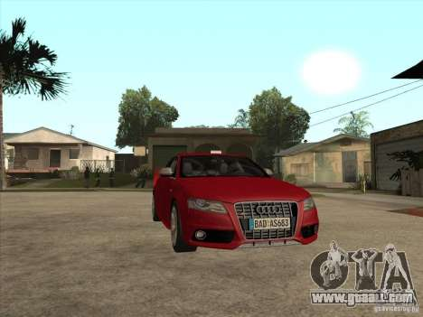 Audi S4 2010 for GTA San Andreas back view